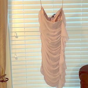 Express Pink strapless ruched dress